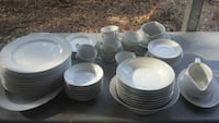 53 pc white lace Brent wood china Boiling Springs, 29316