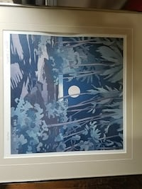 moon and tree painting with white wooden frame Springfield, 97477