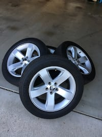 4 Michelin great condition tires with stock 2013 challenger rims Folsom, 95630