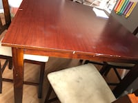 Pub style table good uses shape some scratches seats 4 I can not deliver you must pick up clay area  Clay, 13041