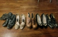 5  Pairs of vintage women's shoes from the 1940s. Brooklyn, 11216