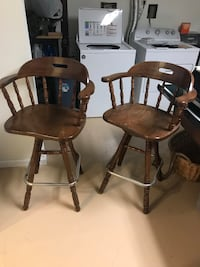 Two bar stool chairs