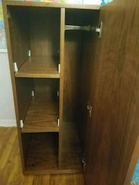 wood closet with shelves and key lock  New Haven