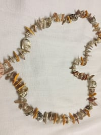Brown and white beaded necklace Jaipur, 302021