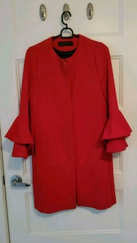 Zara red coat size small Laval