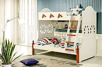 white and blue wooden bunk bed Longueuil, J4V 2J4