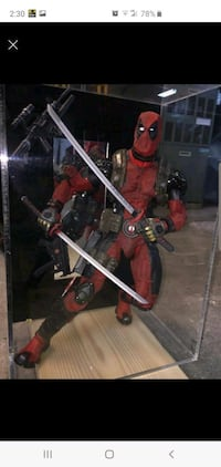 "Dead pool action figure 18"" tall"