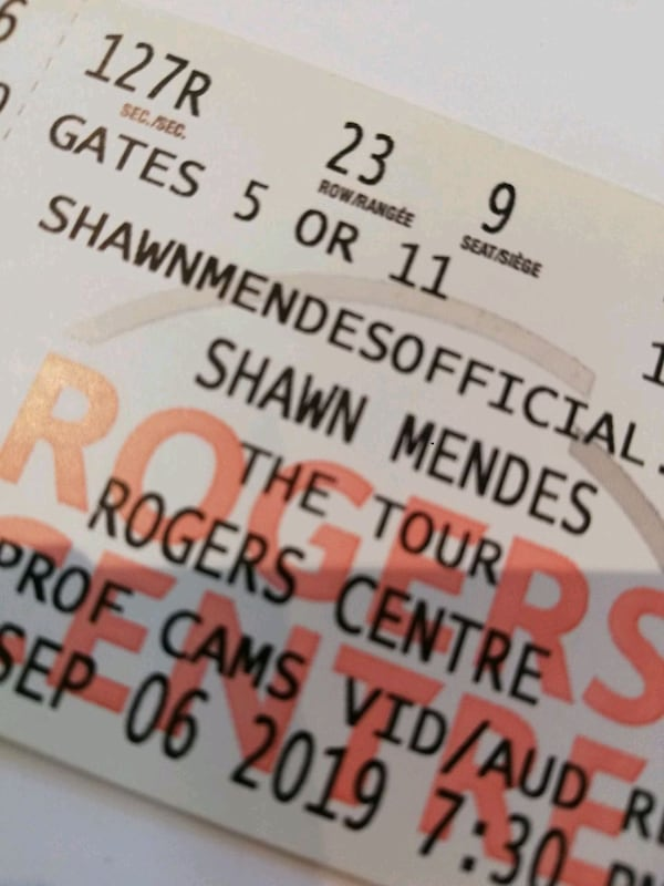 Shawn Mendes tickets - Great seats! $640 for pair aa646506-b1ec-45be-a973-c0175da57300