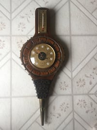 Vintage Unique Bellow Shaped Barometer. Sarnia, N7S