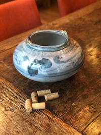 Hand thrown pottery - beautiful blues - signed - one of a kind!  Vienna, 22180