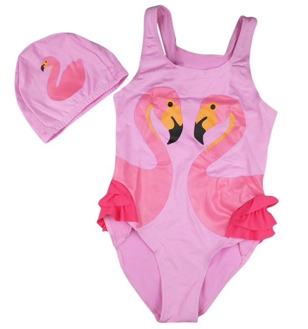 KIDS FLAMINGO BATHING SUIT