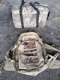 Mossyoak CAMO hikers backpack and Avery Soft CAMO cooler New Orleans, 70113