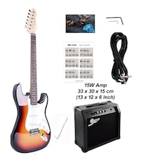 Electric Guitar with 15W amp package