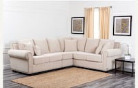 3 Piece Ivory Sectional with Brass Nail head trim Like New Clean Condition. Just bought 6 months ago. Barely used. Now Moving, must sell $1200 obo Los Angeles, 91326
