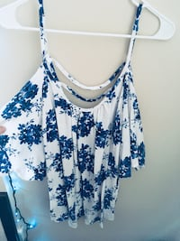 white and blue floral blouse Portland, 97206
