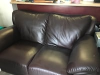 black leather 2-seat sofa Toronto, M3M 0A2