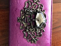 Wallet - skull magenta and gun metal colour New Westminster, V3L 3C2