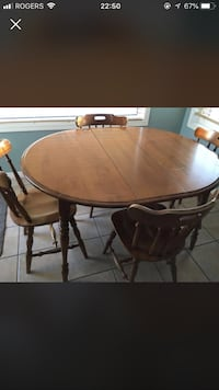 brown solid wooden table  (chairs are not included) Edmonton, T5J