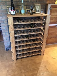 Wood Wine Rack Holds 64 Bottles Mint Condition Hicksville, 11801