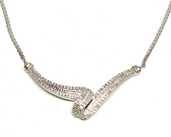 Sterling Silver/Diamond Necklace