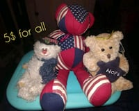 two blue and red bear plush toys Hagerstown, 21740