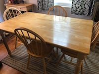 Wooden dining table and chairs  Falls Church, 22042