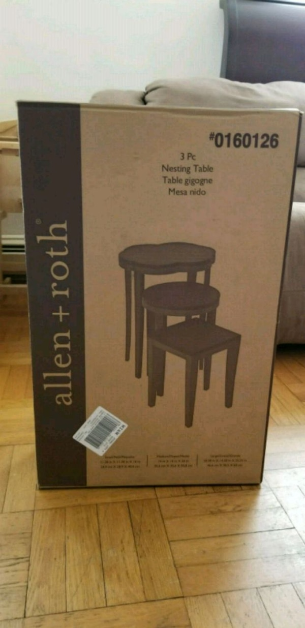 Used Allen Roth 3pc Nesting Table For Sale In Bayonne Letgo