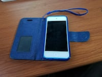 blue iPod touch with blue cover