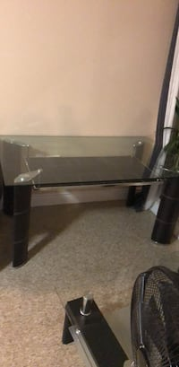 black and gray glass top TV stand Kitchener, N2E