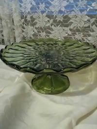 round green glass footed cake tray Boulder City, 89005