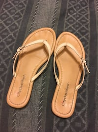 Pair of brown leather sandals Modesto