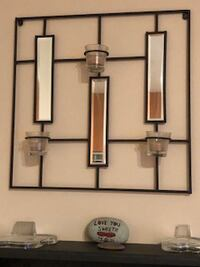 wall decor - mirror/candle holder Maple Ridge