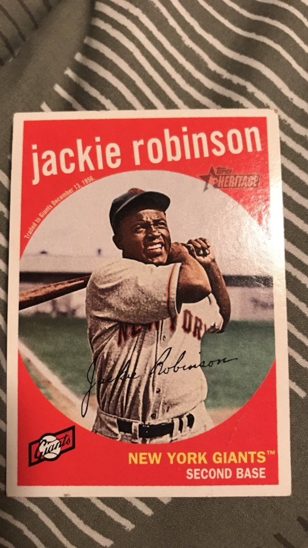 a5428b0f5029dc Used Jackie robinson new york giants collectible card for sale in Port  Barrington - letgo
