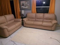 tufted brown leather 3-piece sofa set Clearwater, 33756