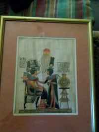Silk screen art work.matted and framed.with egytia Harpers Ferry, 25425