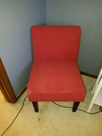 red padded chair with brown wooden frame Aurora, 80014