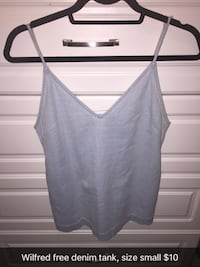 small gray v-neck camisole