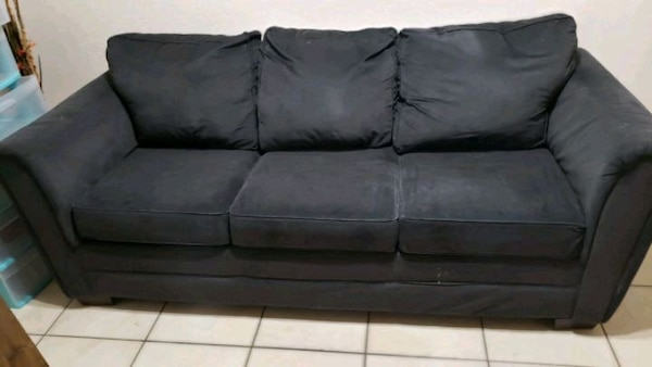 Simmons Flannel Charcoal Sofa Set Cabinets Matttroy