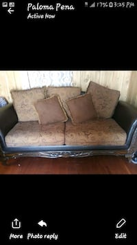 brown floral fabric 2-seat sofa McAllen, 78501
