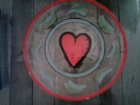 Large Glass Plate with Heart Design  Portland, 97210