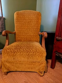 Vintage velvet rocker chair.  Ladson, 29456