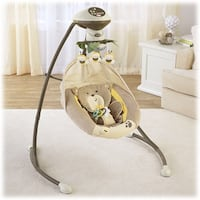 Baby's white and brown cradle and swing Fairview, 84629