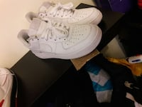 pair of white nike air force 1 low New York, 10457