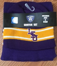 LSU hat and scarf set (New) New Orleans, 70123