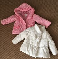 Two toddler's winter jackets