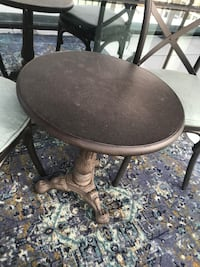Restoraton Hardware Bistro Table, Chairs, Cushions ARLINGTON