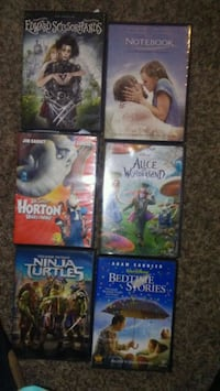 Movies 3.00 each or 15 for all Lubbock, 79410
