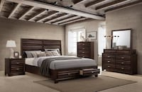 Oliver Antique Walnut Storage Bedroom Set | OL6230 Houston, 77019