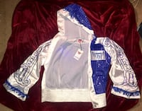 white and blue Adidas jersey Los Angeles, 91406