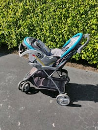 Car seat (with base) and stroller.